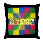 Autism Awareness Blocks Throw Pillow