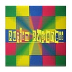 Autism Awareness Blocks Tile Coaster