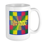 Autism Awareness Blocks Large Mug