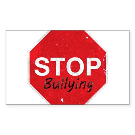 Stop Bullying Sticker (Rectangle)