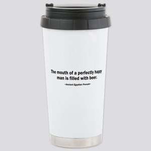 Mouth Happy Man Beer Stainless Steel Travel Mug