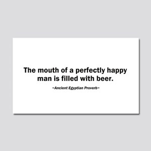 Mouth Happy Man Beer Car Magnet 20 x 12