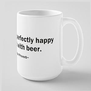 Mouth Happy Man Beer Large Mug