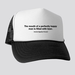 Mouth Happy Man Beer Trucker Hat
