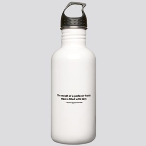 Mouth Happy Man Beer Stainless Water Bottle 1.0L