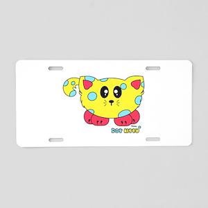 Dot Kitty Pudgie Pet Aluminum License Plate