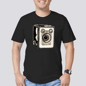 Vintage Camera-Brownie Men's Fitted T-Shirt (dark)