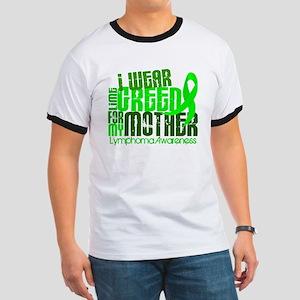 I Wear Lime 6.4 Lymphoma Ringer T