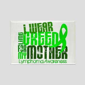 I Wear Lime 6.4 Lymphoma Rectangle Magnet