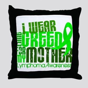 I Wear Lime 6.4 Lymphoma Throw Pillow