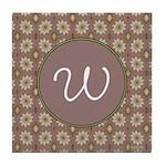 Prairie Paisley Monogram Tile Coaster