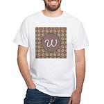 Prairie Paisley Monogram White T-Shirt