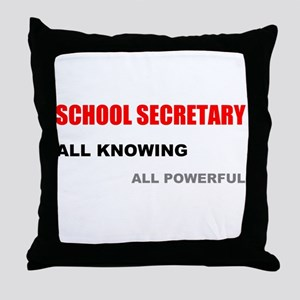 School Sec. All Knowing All P Throw Pillow