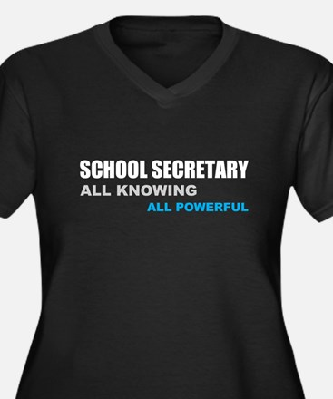School Sec. All Knowing All P Women's Plus Size V-