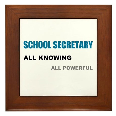 School Sec. All Knowing All P Framed Tile
