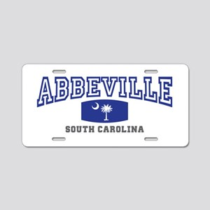 Abbeville South Carolina, SC, Palmetto Flag Alumin