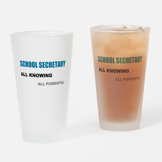 School Sec.All Knowing All Po Drinking Glass