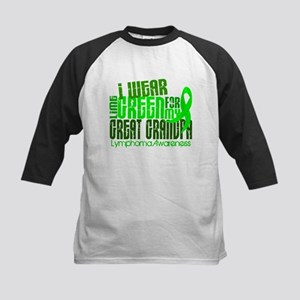 I Wear Lime 6.4 Lymphoma Kids Baseball Jersey