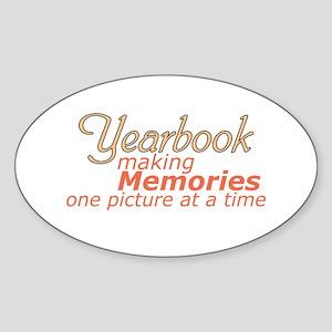 Yearbook Making Memories Sticker (Oval)