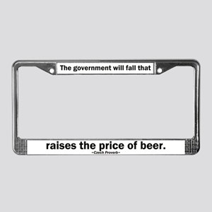 Government Fall Raises Price Beer License Plate Fr