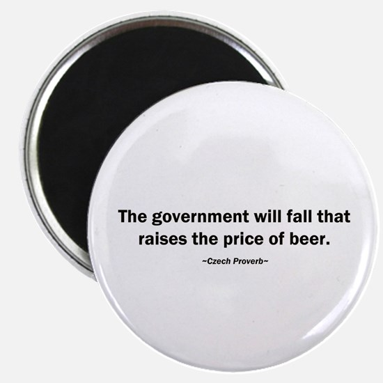 Government Fall Raises Price Beer Magnet
