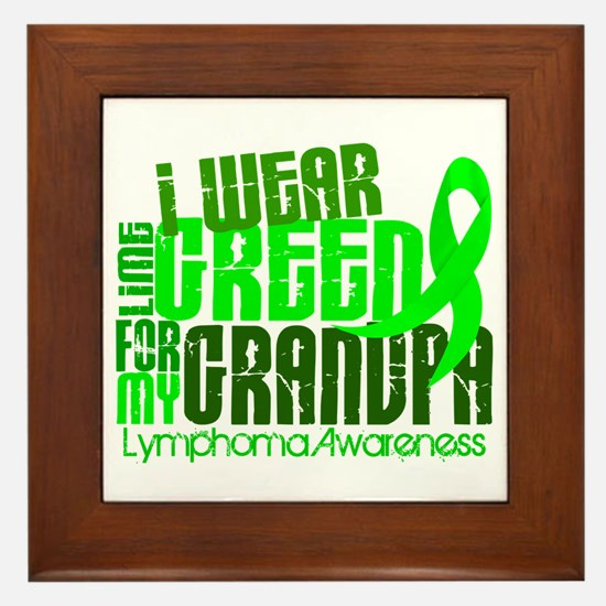 I Wear Lime 6.4 Lymphoma Framed Tile