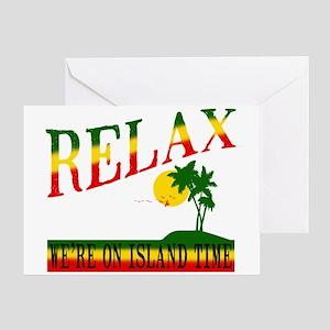 Irie rasta rastafari rastafarian reggae greeting cards cafepress relax greeting card m4hsunfo