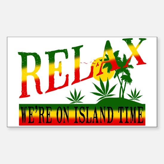 Relax Sticker (Rectangle)