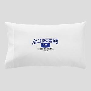 Aiken South Carolina, SC, Palmetto Flag Pillow Cas
