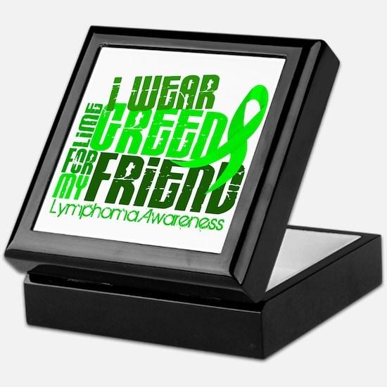 I Wear Lime 6.4 Lymphoma Keepsake Box