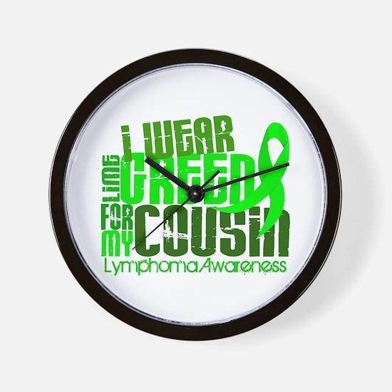 I Wear Lime 6.4 Lymphoma Wall Clock