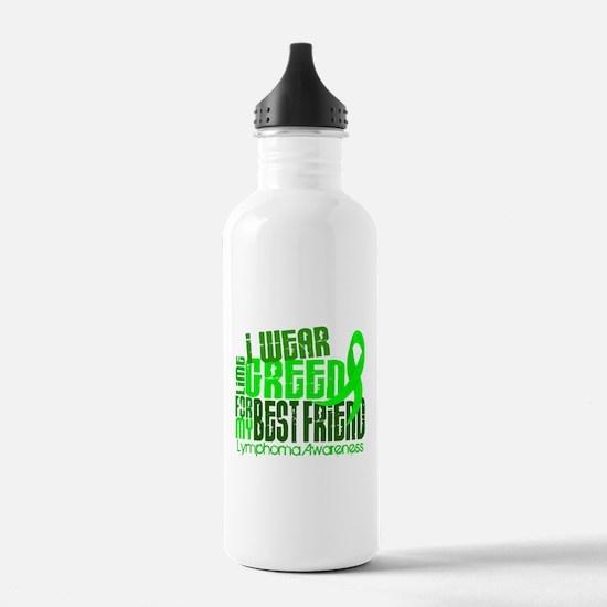 I Wear Lime 6.4 Lymphoma Water Bottle
