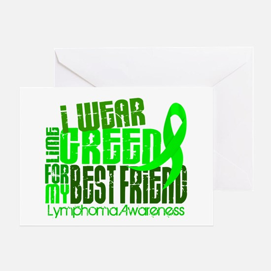 I Wear Lime 6.4 Lymphoma Greeting Card