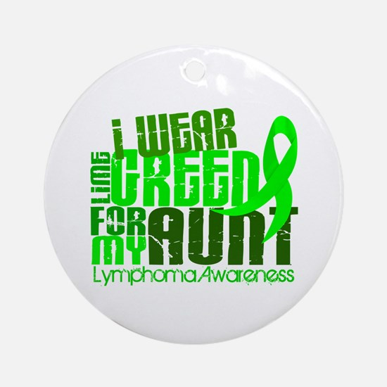 I Wear Lime 6.4 Lymphoma Ornament (Round)
