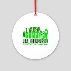 I Wear Lime 6.4 Lymphoma Ornament (Round)