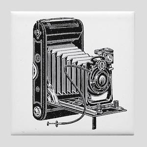 Vintage Camera- Tile Coaster