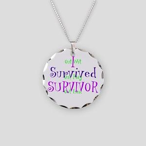 I Survived Survivor Necklace Circle Charm