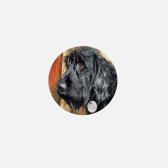 Black Labradoodle Ralph Mini Button
