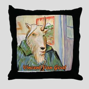 Vincent Van Goat Throw Pillow