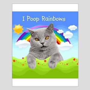 I Poop Rainbows Cat Small Poster