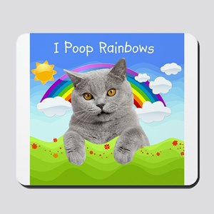 I Poop Rainbows Cat Mousepad