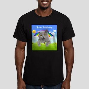 I Poop Rainbows Cat Men's Fitted T-Shirt (dark)