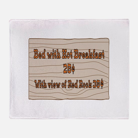 Cute Out of bed Throw Blanket
