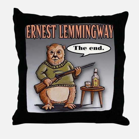 Cute Hemingway Throw Pillow