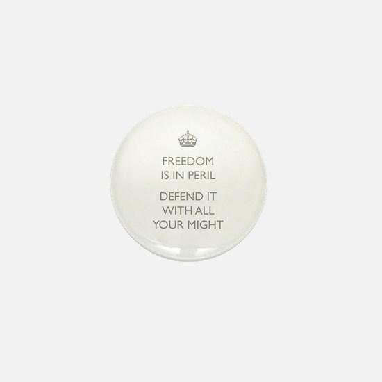 Freedom In Peril Mini Button
