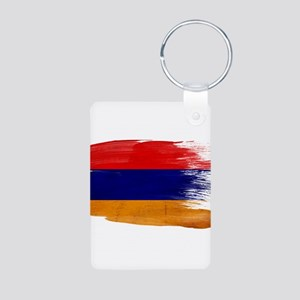 Armenia Flag Aluminum Photo Keychain