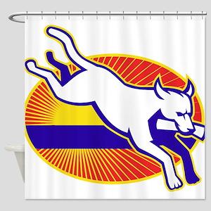 Retriever Dog Training Shower Curtain