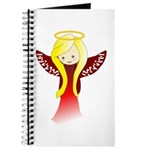 Cute Angel in Red Journal