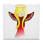 Cute Angel in Red Tile Coaster
