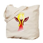 Cute Angel in Red Tote Bag